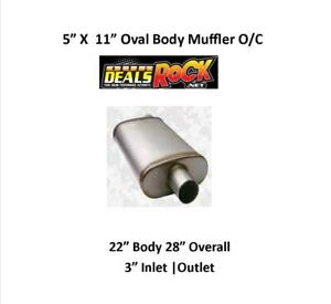 Performance Exhaust Stainless Muffler 3 In Out 5 X 11 Oval Body O C