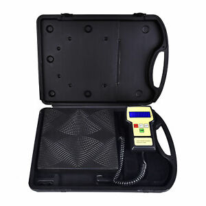 220lbs Hvac A c Electronic Digital Refrigerant Charging Weight Scale With Case