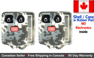 2x New Camouflage Replacement Remote Control Key Fob Shell Case For Ford