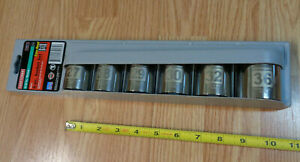 Usa Made Craftsman 1 2 Drive Large Metric Socket Set Easy Read Laser Etched 6pc
