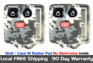 2x Camouflage Replacement Keyless Entry Remote Control Key Fob Shell Case