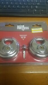 Padlock By Master Lock Hardened Steel High Security 2 Pack Fortress