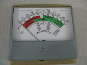 New Meter For Hickok 750 Tube Testers 280 a Simpson Wide View Usa Made