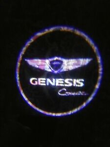 2x Wireless Car Door Welcome Purple Led Genesis Coupe Logo Light