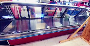 Hussmann 12 Deli Case With Tilt Up Straight Glass Blower Coil Meat Cheese