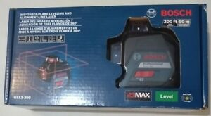 Bosch 360 200 Ft Self Leveling 3 Plane Cross Line Laser Level Gll3 300 New