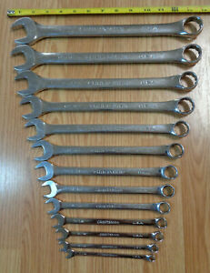 Usa Made Craftsman Professional Sae Inch Wrench Set Polished Combination 13pc