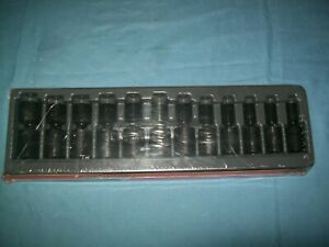 New Snap On 1 2 Drive 10 To 24 Mm 12pc 6 Pt Impact Swivel Socket Set 312iplm
