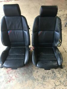 Bmw M3 E36 Coupe Convertible Leather Seats Front Seat Set Oem Black