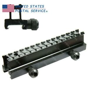 See Through Flat Top Riser Airsoft Base 14 Slots Picatinny Weaver Mount Rail New $15.69