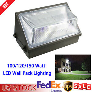 100 120 150 Watt Led Wall Pack Fixture Commercial Industrial Security Light Ip65