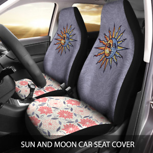 Sun And Moon Floral Bright Universal Car Seat Cover Vehicle Seat Cover