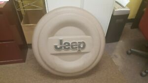 2001 Jeep Wrangler Sahara 2dr 4 0 L Hard Spare Tire Cover Beige Color