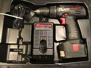 Snap On Cdr3850 1 2 Cordless 18v Drill driver W battery charger case good Shape