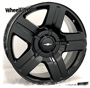 26 Inch Gloss Black Chevy Silverado 1500 Texas Oe 5291 Replica Wheels 6x5 5 31