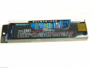 Authentic Napolex Broadway Rear View Mirror 270mm Flat Blue