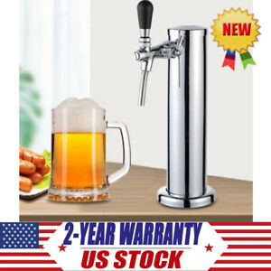 Silver Draft Beer Tower Single Tap Faucet Tap Stainless Steel For Kegerator Home