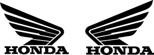 Set Of 2 Honda Wing Vinyl Decal Sticker Cars Atvs Mx Boats Truck Racing