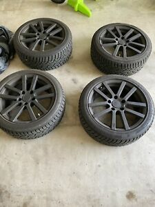 4 Used Oz Msw Type 22 17x7 5 34 5x112 Bmwwith General Altimax Snow Tires