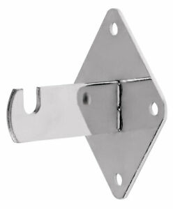 Grid Wall Mount Brackets For Wire Gird And Slatgrid Panels Chrome 15 Pack