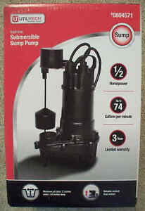 Utilitech 1 2 Hp 74 Gpm Cast Iron Submersible Sump Pump 90ecd518 804571 sealed