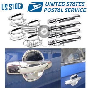 4dr Door Handle Covers Bowls Chrome For 2010 2012 2013 2014 2015 Chevy Camaro