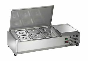 Arctic Air Acp40 40 Refrigerated Countertop Condiment Prep Station 6 Pan sil