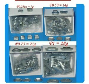 400 Pcs Assortment Clip On Wheel Weight Balance P Style 0 25 0 50 0 75 1 00 Oz