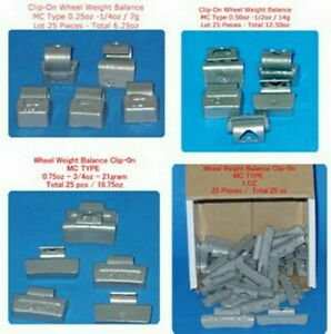 400 Pcs Assortment Clip on Wheel Weight Balance Mc Style 0 25 0 50 0 75 1 00 Oz