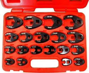 19 Piece Metric Flare Nut Crowfoot Wrench Set 8 32mm