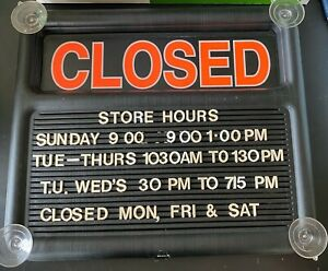 Used Quartet Open And Closed Sign For Business With Extra Plastic Letters