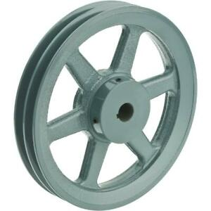 Grizzly G6279 Double V groove Pulley 8 Pitch Dia 3 4 Bore
