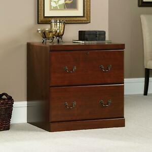 Lateral File Cabinet 2 Drawer Document Storage Organizer Bed Side Stand Display