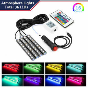 Parts Accessories Rgb Led Lights Car Interior Floor Decor Strip Lamps Atmosphere