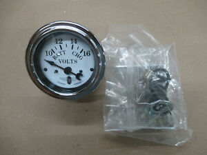 Stewart Warner 82481 Voltmeter Gauge 12v Negative Ground