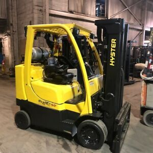 2014 Hyster S80ftbcs 8000lbs Used Forklift Only 6539 Hrs Triple Mast Sideshift