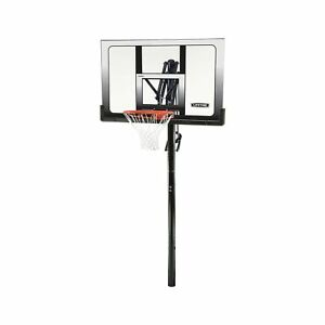Lifetime 71281 In Ground Power Lift Basketball System 52 Inch Shatterproof B