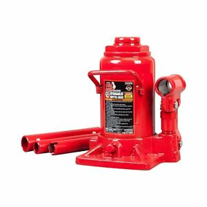 Big Red T91207a Torin Hydraulic Stubby Low Profile Welded Bottle Jack 12 Ton