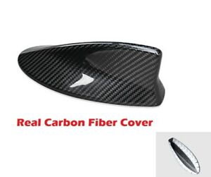Real Black Carbon Fiber Roof Shark Fin Antenna Cover For 15 20 Rcf Rc350 Rc200t