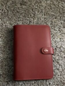 New Filofax Personal Size Original Organiser Diary Pillarbox Red Leather Uk Made