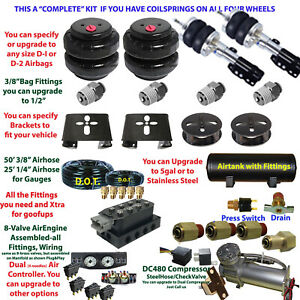 Air Suspension Complete Kit With Onboard Control For 2004 2006 Toyota Sienna Awd