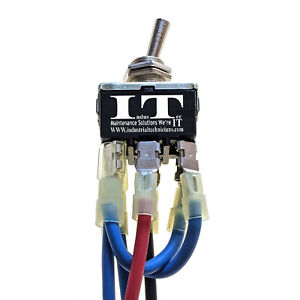 Industec 10 Amp Dc Motor Polarity Reversing Maintained Toggle Switch Wired 12v