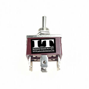 Industec Heavy Duty 10a Dpdt Maintained 6 1 4 Pc Pin Toggle Switch 3 Pos 12v