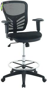 Modway Articulate Drafting Chair Reception Desk Chair Drafting Table Chair I