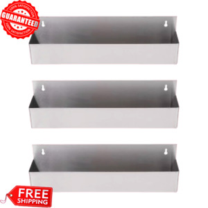 3 pack 22 Silver Stainless Steel Single Tier Commercial Bar Speed Rail Rack