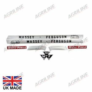 Massey Ferguson System 135 145 148 Multipower Tractor Bonnet Decal Sticker Set