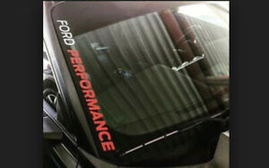 Ford Performance Side Decal Windshield