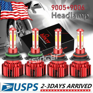 9005 9006 Led Headlight Bulb For Chevrolet Silverado1500 2500 Hd 2001 2006 4side