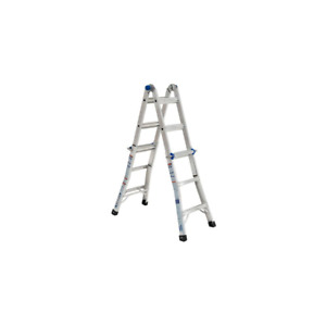 14 Ft Reach Aluminum Telescoping Multi position Ladder With 300 Lbs Load Capac
