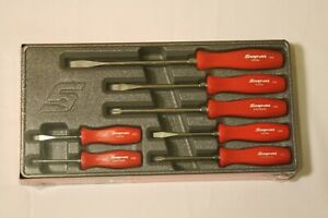 Snap On 7 Piece Rare Red Hard Handle Combination Screwdriver Set New